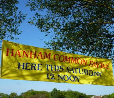 Hanham Common Fayre sign
